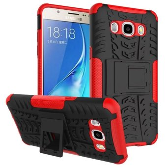 BYT Rugged Dazzle Case for Samsung Galaxy J5 2016 with Kickstand (Red)