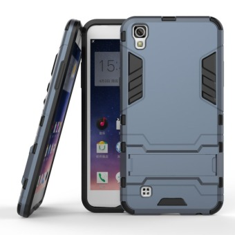 BYT TPU+PC Hybrid Phone Case for LG X Power (Navy Blue)