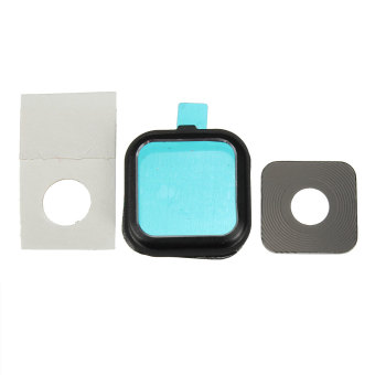 Camera Glass Lens Cover Frame Replacement Part for Samsung Galaxy Note 4 N910 (Black)