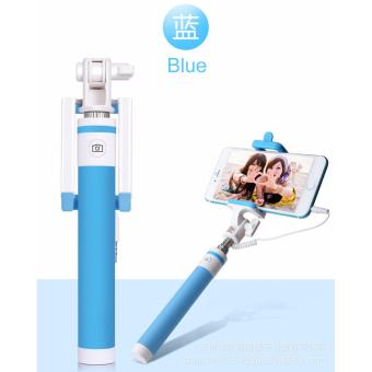 Candy Wired Selfie Stick Monopod Built-in Remote Shutter PhoneStand