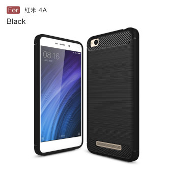 Carbon fiber phone cases for Xiaomi redmi 4A soft cover case