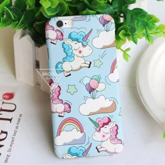 Cartoon Candy Color Unicorn For Apple iPhone 6/6s Case Fashion Colorful Pegasus Phone Cover - intl Price Philippines