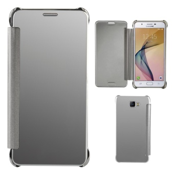 Case for Samsung Galaxy J7 Prime Luxury Mirror Clear View Flip FullBody Cover (Silver) - intl