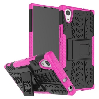 Case for Sony Xperia XA1 Hybrid Combo Shockproof Case Cover (HotPink) - intl