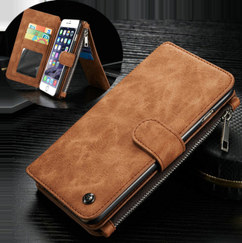 Caseme Leather Cover for iPhone 6s 6 (Brown)