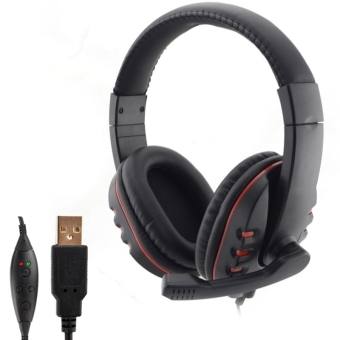 CatWalk Over-The-Ear Headphones with Noise Canceling Mic for PC PS34 (Black)