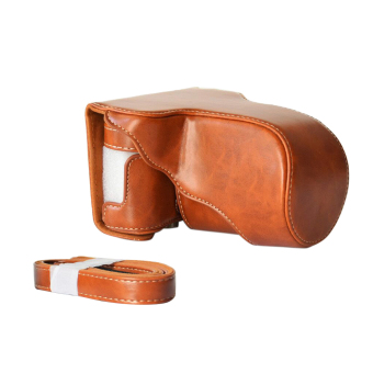 Classic PU Leather Camera Case Bag Protective Pouch with ShoulderStrap for Fuji Fujifilm X-A1 X-A2 X-A3 X-M1 Price Philippines
