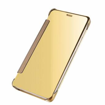 Clear Cover Flip View for Samsung Galaxy S8 Plus (Gold)