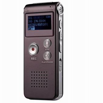 CM112 Rechargeable Digital Voice Recorder MP3 Player - Wine Red(8GB) - intl