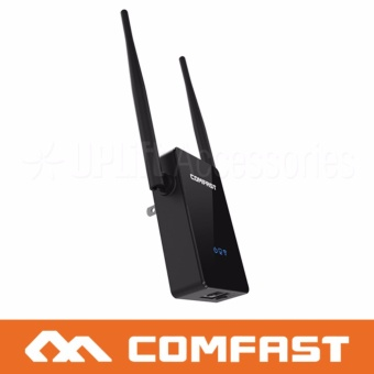 Comfast High-Speed Long-Range 300Mbps Wifi Range Extender Plug-in802.11n with 2x External Antenna for Indoors