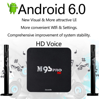 Docooler M9S-PRO Smart Android 6.0 TV Box Amlogic S905X Quad CoreVP9 UHD 4K 3G / 32G Mini PC WiFi H.265 DLNA Miracast HD MediaPlayer US Plug Price Philippines