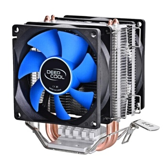Dual Heat Sink Pipes CPU Cooler Heatsink Cooling Fan DesktopsComputer Accessory for Intel LGA1150 1155 775 1156 AMD Socket 100W- intl