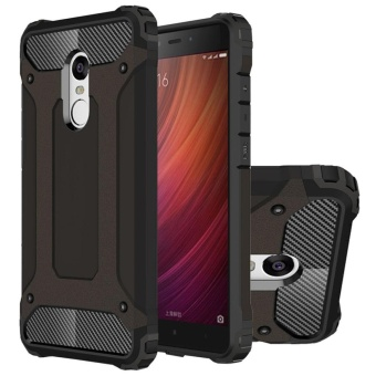 Dual Layer Case for Xiaomi Redmi Note 4 Hybrid TPU PC Heavy Duty Armor Shock Absorbing Protective Cover Black
