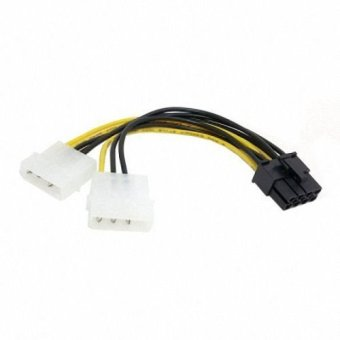 Dual Molex 4pin IDE to 8 Pin PCI-E Power Lead Cable for Asus MSI VGA Video Graphic Card
