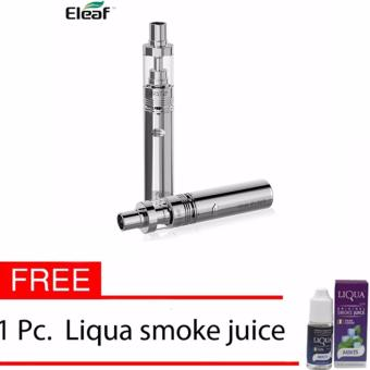 Eleaf iJust 2 Starter Kit with 5.5ml Tank Electronic CigaretteE-Cigarette Vape (Silver) with Free Liqua Smoke Juice
