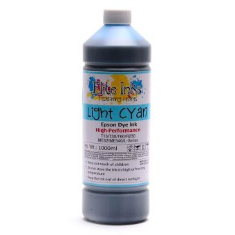 Elite Premium Japan Dye Ink Compatible for Epson 1 Liter (LightCyan/Light Blue)
