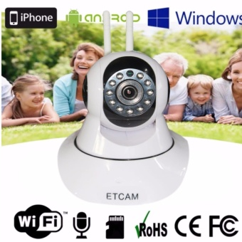 ET-V380 Smart HD 720P P2P Night Vision IP Camera with 2 antenna