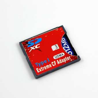 Extreme SD SDHC SDXC To CF Type II 2 Compact Flash Memory CardAdapter Reader