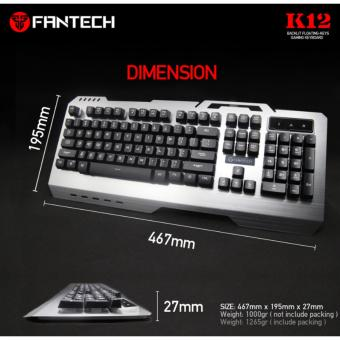 Fantech K-12 Led Backlight Metal Computer Gaming Keyboard,Keyboaard For Gamer