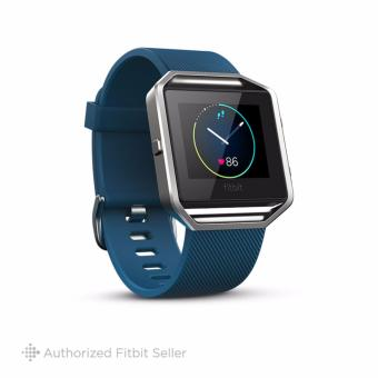 Fitbit Blaze Smart Fitness Watch, Large 16.5 cm - 20.6 cm - Blue Silver
