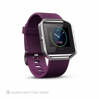 Fitbit Blaze Wireless Activity and Sleep Wristband, Large 16.5 cm - 20.6 cm - Plum Silver