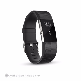 Fitbit Charge 2 Heart Rate + Fitness Wristband, Small 14 cm - 17 cm - Gunmetal