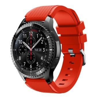 Flexible Sports Silicone Watch Strap for Samsung Gear S3 Frontier /S3 Classic - Red - intl