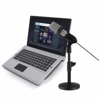 Folding Type Black Microphone Mic Computer Laptop Desktop Stand