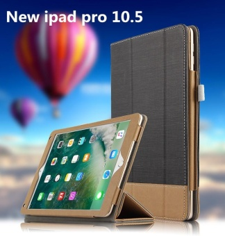 For Apple New ipad pro 10.5inch 2017 Tablet Stripe FlipcaseMulticolor PU Leather Case Protective Cover - intl