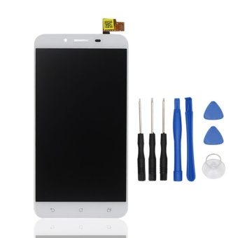 For Asus ZenFone 3 Max ZC553KL White LCD Display + Touch Screen Digitizer Assembly Replacement Free Tools - intl