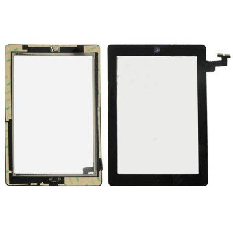 For iPad 2 Digitizer Touch Screen Glass Home Button AdhesiveAssembly Black - intl