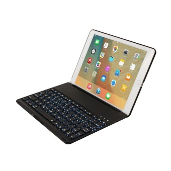 For iPad Pro 9.7 Keyboard Case, 7 Colors LED Backlit Wireless Bluetooth Keyboard Case Smart Stand Colorful with Multi Function Keyboard Case for iPad Pro 9.7 inch Tablet (Black) - intl
