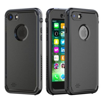 For iPhone 7 Full Sealed Protection Waterproof Case Cover (Black) - intl