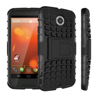 For Motorola Moto X 2nd Gen Case XT1095 XT1097 Heavy Duty ArmorShockproof Hybrid Hard Rubber Case Cover For Moto X2 Moto X+1(Black) - intl Price Philippines