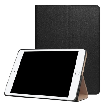For New iPad 9.7 Inch 2017 Ultra Slim Leather Flip Tablet Case Cover (Black) - intl