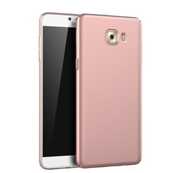 For Samsung Galaxy C9 Pro Full Body Hard PC Smooth Grip Back Case Cover (Rose