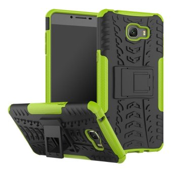 For Samsung Galaxy C9 Pro Hybrid Armor High Impact Shockproof CaseCover (Green) - intl