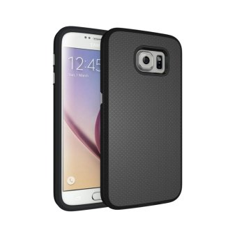 For Samsung Galaxy S6 G9200 Ultra Slim Anti-Slip Shockproof PhoneBack Case Cover (Black) - intl