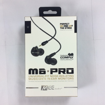 Foreign Trade Amazon MEE M6PRO Stage Monitor Wire Headset Moving Coil Ear Type Heavy Bass Noise Reduction General (black) - intl Price Philippines