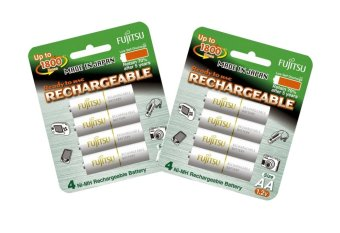 Fujitsu Ready-to-Use AA Rechargeable Batteries Set of 2 (White)