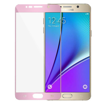 Full Cover Tempered Glass Screen Protector Guard for Samsung Galaxy Note 5 (Pink)