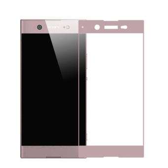 Full Covered Curved Tempered Glass Screen Protector for Sony XperiaXA1 (Rose Gold)