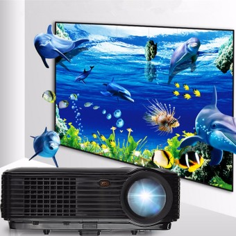 Full HD 1080P 3500 Lumens 3D LED Projector Home Cinema Theater Multimedia HDMI - intl
