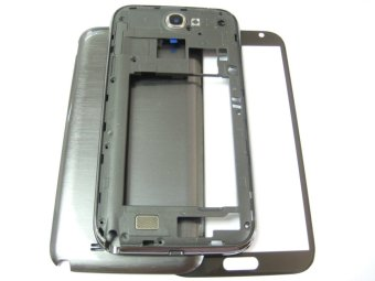 G-Plus Cover Housing+Front Glass Screen for Samsung Galaxy Note 2II LTE Grey