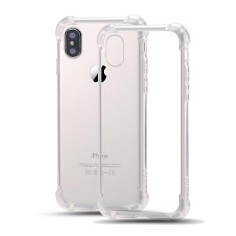 German Import Shockproof Silicone Clear Case For Apple iPhone X (Clear)