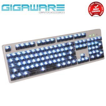 Gigaware 104 Key Transparent Light Transmitting ABS Keycaps forMechanical Keyboard (Black) Price Philippines