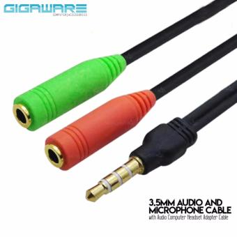 Gigaware 3.5mm Audio and Microphone Cable with Audio ComputerHeadset Adapter Cable Price Philippines