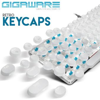 Gigaware Gaming Typewriter MX Keycaps for Mechanical Keyboard(White) Price Philippines
