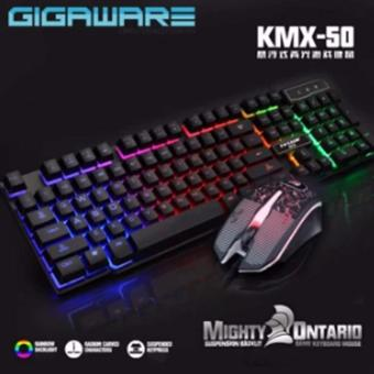 Gigaware KMX-50 Mad Warrior Suspended Keypress Gaming Keyboard(Black) + Gaming Mouse Price Philippines
