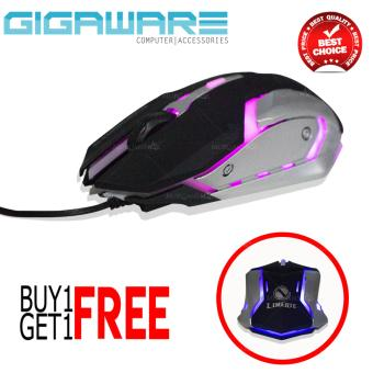 Gigaware Limeide LK003 Backlight Gaming Mouse (buy 1 take 1) Price Philippines